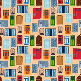Different house windows vector elements Stock Images