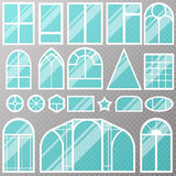 Different house windows vector elements Stock Photos
