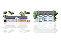Different houses, isolated Stock Images