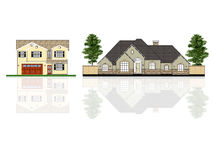 Different houses, isolated Stock Photo