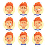 Different human emotions Stock Image