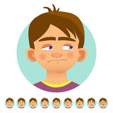 Different human emotions Stock Images