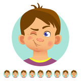 Different human emotions Royalty Free Stock Photos