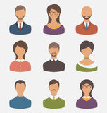 Different human icons isolated on white background Royalty Free Stock Photos