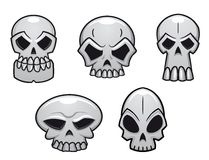 Different human skulls for halloween Stock Images