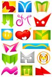 Different Icon with alphabet M Stock Images