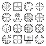 Different icon set of targets and destination. Target and aim, targeting and aiming. Vector illustration Stock Photo