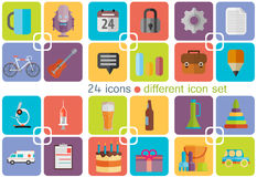 Different icon set. Vector Stock Image
