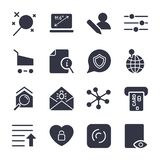 Different icons for apps, sites, programs. Internet icons set. vector illustration