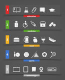 Different icons clip art Stock Image