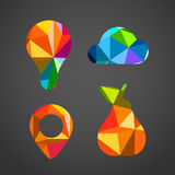 Different icons of color triangles Royalty Free Stock Photography