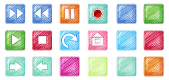 Different icons Stock Photography