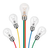 Different Ideas - Lightbulb Concept Isolated Royalty Free Stock Image