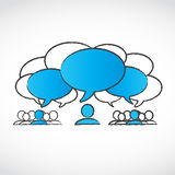 Different ideas speech bubbles Stock Photography