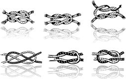 Different illustration of knots Stock Image