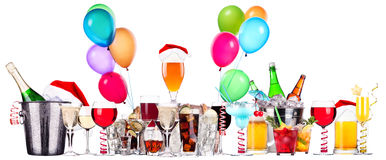Different images of alcohol with balloons Stock Photo
