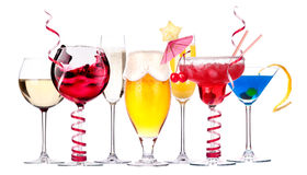 Different images of alcohol isolated Royalty Free Stock Photo