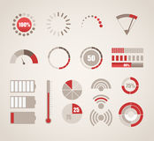 Different indicators collection Royalty Free Stock Photo
