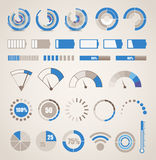 Different indicators collection Royalty Free Stock Image