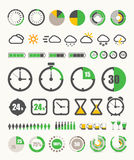 Different indicators collection Royalty Free Stock Photography