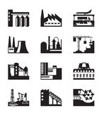 Different industrial plants Royalty Free Stock Photos