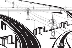 Different infrastructural Installations Royalty Free Stock Photography