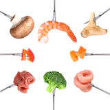 Different ingredients for fondue Royalty Free Stock Image