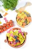 Different ingredients to prepare pasta Stock Image
