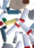 Different inhalers Stock Photos