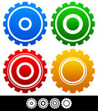 Different, isolated shapes or silhouettes of gears, cogwheels, g Royalty Free Stock Image