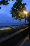 A different İstanbul. Cold, alone, dark, blue and green seaside Royalty Free Stock Photos