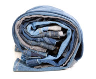 Different jeans, rolled up Stock Photos