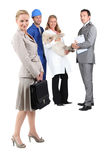 Different jobs. 4 people from different professions Stock Photography