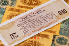 Different Juan banknotes from China Stock Photography