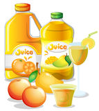 Different juice drinks Stock Photos