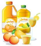 Different juice drinks Stock Photos