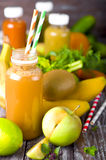 Different juices and fruits Stock Photography