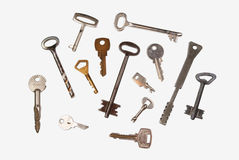 Different keys. On the white background Royalty Free Stock Images