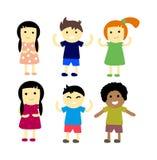 Different kids  illustration. Stock Photo