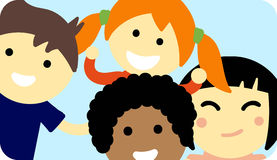 Different kids  illustration. Stock Image