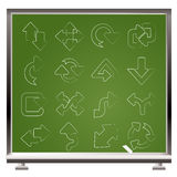 Different kind of arrows icons Royalty Free Stock Images