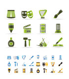 Different kind of art icons Stock Image