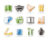 Different kind of Art Icons Stock Photos