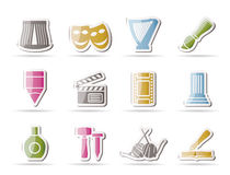Different kind of art icons Royalty Free Stock Photos
