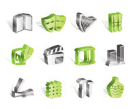Different kind of Art Icons. Vector Icon Set Royalty Free Stock Photography