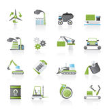 Different kind of business and industry icons royalty free illustration