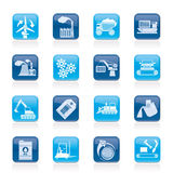 Different kind of business and industry icons vector illustration
