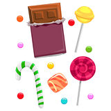 Different Kind of Candies and Chocolates Royalty Free Stock Photo