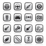 Different kind of car parts icons Royalty Free Stock Images