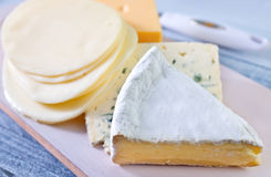 Different kind of cheese Royalty Free Stock Photo